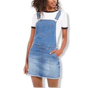 Vanilla Star Junior's Frayed-Hem Overalls …
